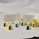 """Love Story""/Classic Heart Shaped Zinc Alloy Place Card Holders (Sold in a single piece)"