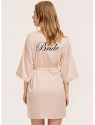 Personalized Charmeuse Bride Embroidered Robes