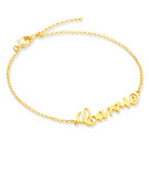 Christmas Gifts For Her - Custom Sterling Silver Link & Chain Name Bracelets