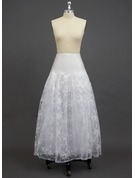 Women Tulle Netting/Spandex/Lace Floor-length 3 Tiers Petticoats