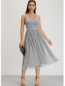 Cotton With Resin solid color Midi Dress