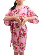 Flower Girl Cotton With Knee-Length Floral Robes Girl Robes Kimono Robes