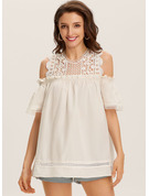 1/2 Sleeves Cotton Cold Shoulder Blouses