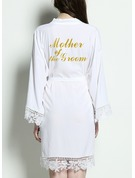 Bride Bridesmaid Cotton Satin & Lace Robes