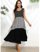 Polyester/Cotton With Print/PolkaDot Maxi Dress
