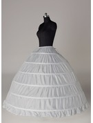 Women Tulle Netting/Satin Floor-length 4 Tiers Bustle