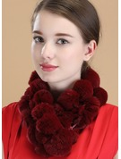 Solid Color Neck/Light Weight/simple Rex Rabbit Hair Scarf
