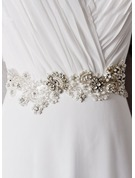 Elegant/Exquisite Satin Sash With Flower/Rhinestones