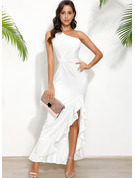 One Shoulder Sleeveless Maxi Dresses