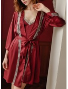 Non-personalized Charmeuse Bride Blank Robes Lace Robes