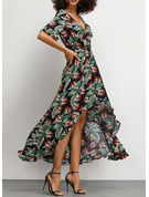 Viscose With Print Asymmetrical Dress