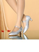 Women's Leatherette Heels Pumps Character Shoes With Buckle Dance Shoes
