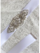 Elegant Ribbon Sash With Rhinestones/Imitation Pearls