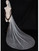 One-tier Cut Edge Chapel Bridal Veils