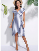 Cotton/Linen With Print Asymmetrical Dress