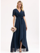 Asymmetrical Chiffon Bridesmaid Dress