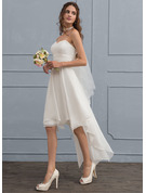 A-Line/Princess Sweetheart Asymmetrical Chiffon Wedding Dress With Ruffle