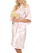 Personalized Satin With Knee-Length Personalized Robes