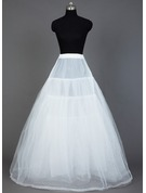 Women Nylon/Tulle Netting Floor-length 4 Tiers Petticoats