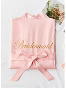 Charmeuse Bridesmaid Embroidered Robes