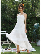 A-Line Sweetheart Ankle-Length Wedding Dress With Lace