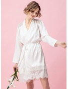 Lace Bride Bridesmaid Mom Blank Robes Lace Robes