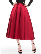 A-Line/Princess Tea-Length Satin Cocktail Skirt