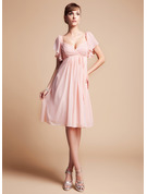 Empire Sweetheart Knee-Length Chiffon Bridesmaid Dress