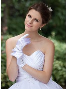 Elastic Satin Wrist Length Bridal Gloves
