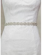 Beautiful Satin Sash With Rhinestones