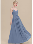 Sweetheart Floor-Length Chiffon Bridesmaid Dress