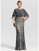 Trumpet/Mermaid Scoop Neck Floor-Length Lace Evening Dress