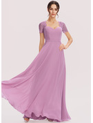 A-Line Sweetheart Floor-Length Bridesmaid Dress With Lace
