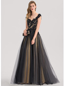 Ball-Gown Sweetheart Sweep Train Tulle Evening Dress