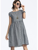Cotton With Stitching Knee Length Dress