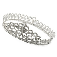 Round Shaped Rhinestone/Alloy Tiaras