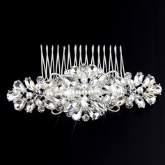 Ladies Charming Rhinestone/Imitation Pearls Combs & Barrettes