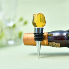 Rose Design Crystal Bottle Stopper