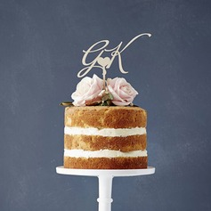 Classic Acrylic/Wood Cake Topper