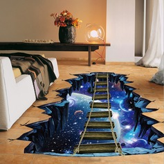 Sky Sea Broken Bridge Pattern PVC Removable 3D Floor Wall Decal  (Sold in a single piece) (203168032)