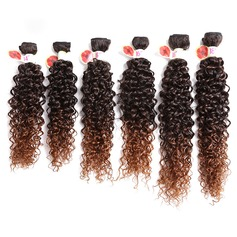 Kinky Curly Synthetic Hair Human Hair Weave 8pcs 100g (235145901)