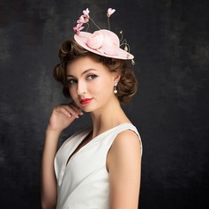 Ladies' Beautiful Lace/Linen With Flower Fascinators