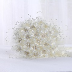 Round Ribbon/PE/Imitation Pearl Bridal Bouquets -