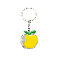 Personalized Apple Zinc Alloy Keychains