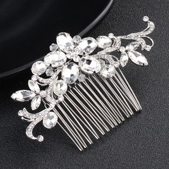 Ladies Glamourous Alloy Combs & Barrettes With Crystal