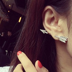 Beautiful Alloy With Rhinestone Ladies' Fashion Earrings (Sold in a single piece)
