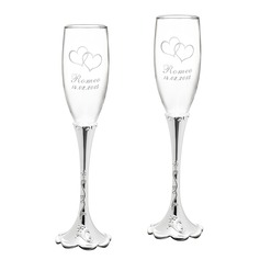 Personalized Fashionable Alloy Glass Toasting Flutes (2 Pieces) (129061695)