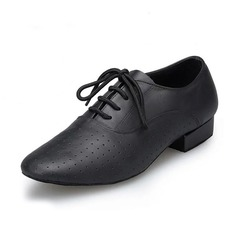 Men's Real Leather Flats Latin Ballroom Practice Character Shoes Dance Shoes