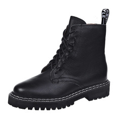 Women's PU Low Heel Martin Boots With Split Joint shoes