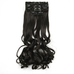 Loose Synthetic Hair Clip in Hair Extensions 5PCS